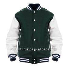 Leather Sleeves Varsity Jacket / Wool And Leather Varsity Jacketcheap custom varsity jackets,mens knitted wool jacket