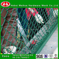 Galvanized,PVC chain basketball net /chain link perimeter fence designs high quality fencing link chain price manufacturer