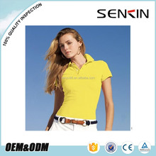 ladies polo collar t shirt, fashion young ladies clothing wholesale