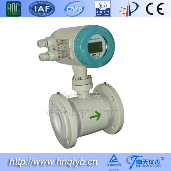 PTFE liner RS485 Corrosion-resistant Hydrogen sulfate flow meter