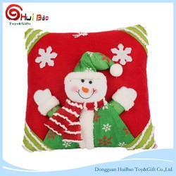 Christmas Theme Cushion Cover Xmas Cotton Linen Pillow Case For Home Sofa Car Decor 45*45cm Customize Cartoon Printed Gift