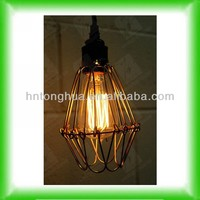 Antique vintage light bulb fixture/fitting hanging bird cage