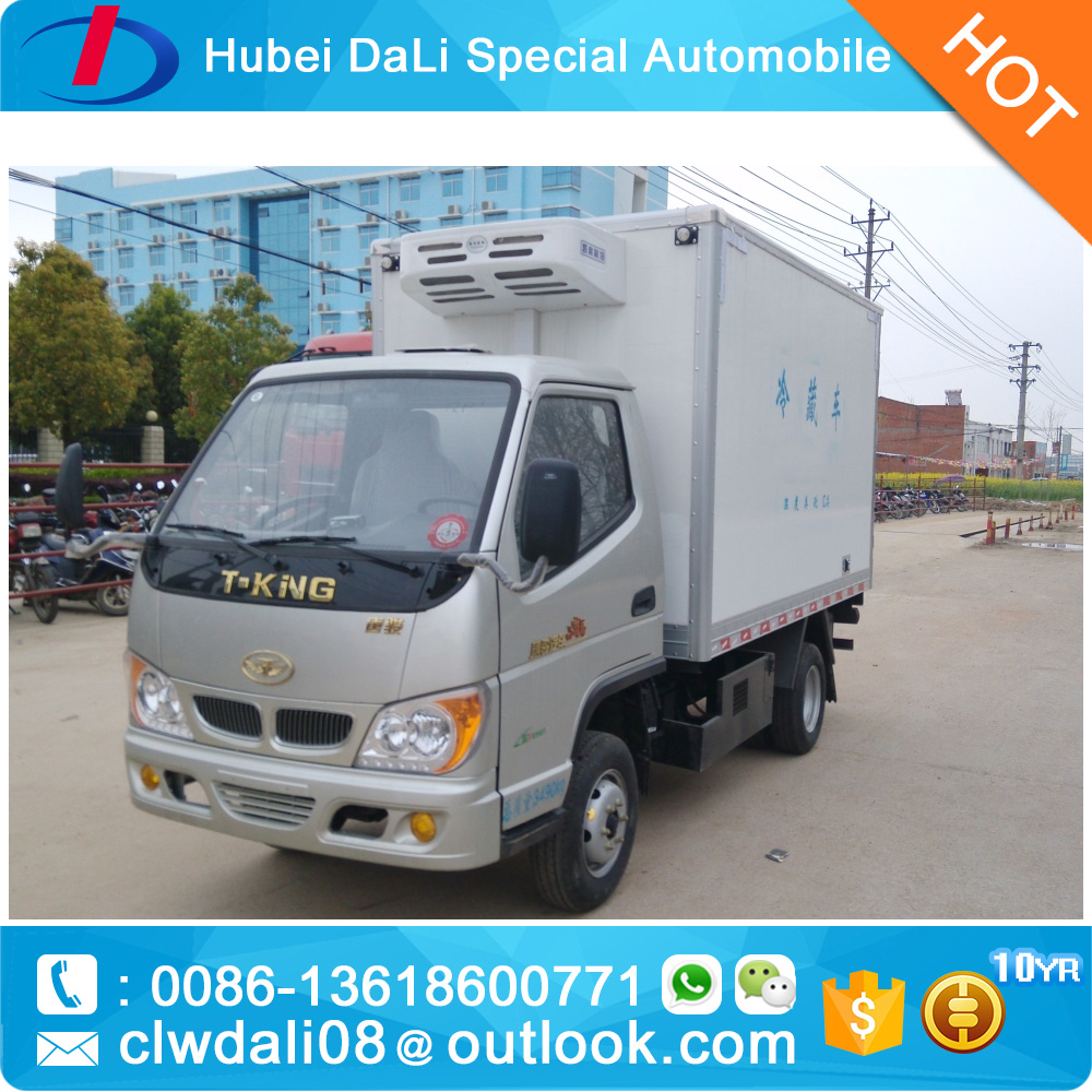 Used Refrigerator van truck with tail board for freezer food delivery