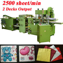 Fastest 2500 Piece Italy Design Embossing Printing Automatic High Speed MG Paper Napkin Machine