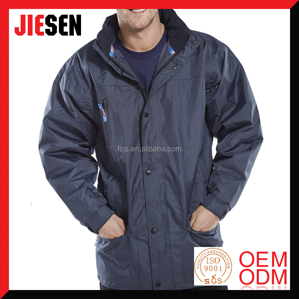 PU Water Resistant Coating Navy Blue Woodland Guardian Winter Jacket