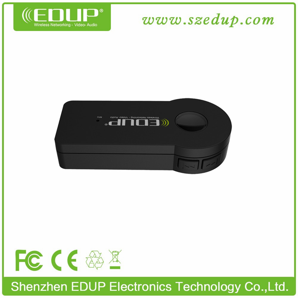 EDUP Car Audio Bluetooth Receiver 3.5mm Jack With High Quality Silicon Microphone