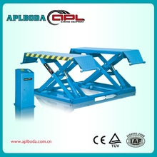 3 ton middle rise on ground low rise scissor car lift