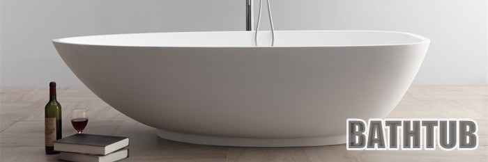 DOMO rectangular drop-in acrylic bathtub