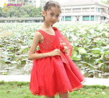 cheap price 2012 new fashion casual mesh cotton kids beautiful model dresses for girl