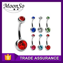 Anime Belly Button Ring 10 Colors Surgical Steel Belly Button Ring K2B