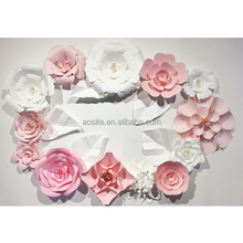 Top retaed high quality paper Flowers giant paper flower wall wedding flower decoration