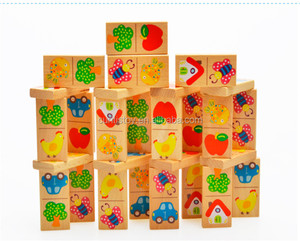 christmas gift items wholesale kids colour fruit math domino sets toys blocks educational wooden oem handmade dominoes game set