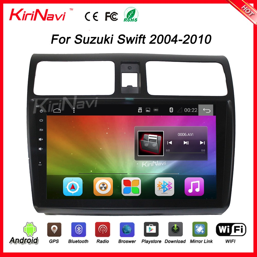 "Kirinavi wholesale WC-SS1004 10.2"" andriod 6.0 car radio for suzuki swift car dvd gps navigation system wifi 3g playstore"