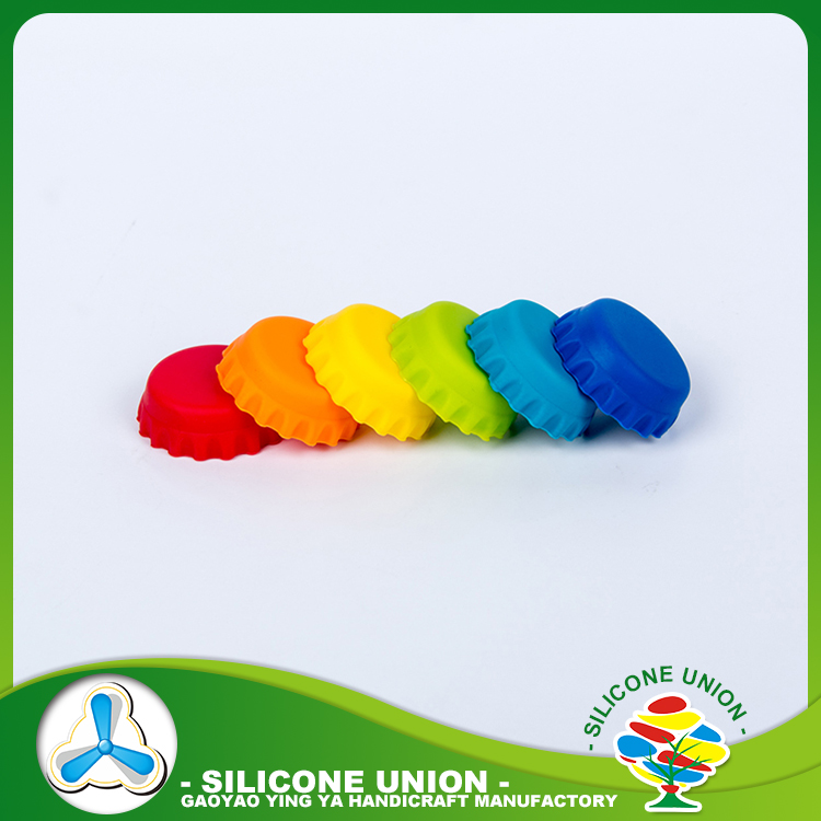 Wholesale colorful beer saver /custom silicone beer bottle caps