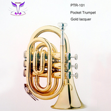 Cheap gold lacquer pocket trumpet with best quality from China