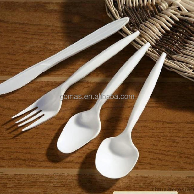 High Quality FDA Product Wholesale Fast Delivery Disposable Plastic Spoon Fork and Knife