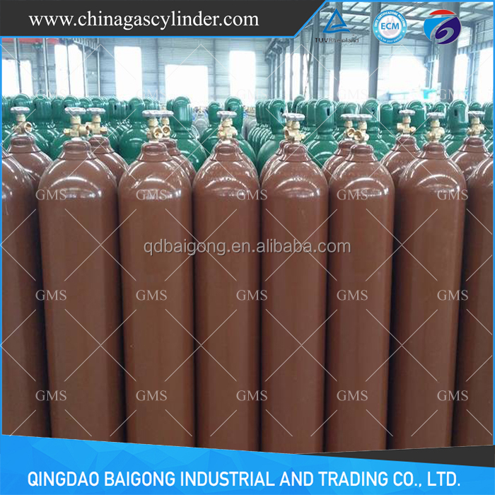 seamless steel helium gas tank price for sale