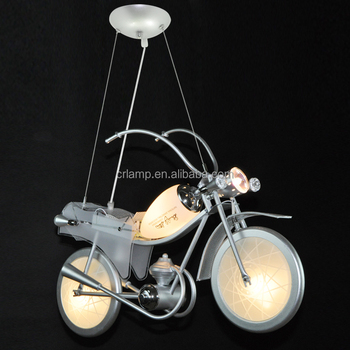 Motorcycle modelling children lamp light boy personality of children room bedroom lamp