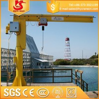 5 ton slewing jib crane fix-column type workstation cranes