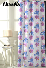 Eyelets Top printed colorful flower in blackout Curtain fabric used in windows