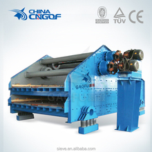 Wet coal dewatering screen machine