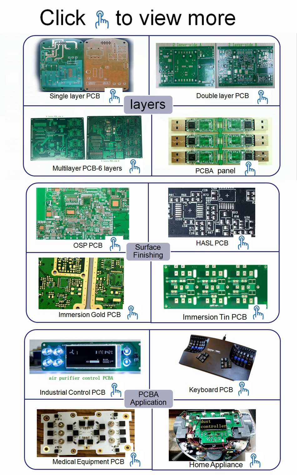 Rohs 94v0 Electronic PCB Printed Circuit Board Prototype Assembly Manufacturer
