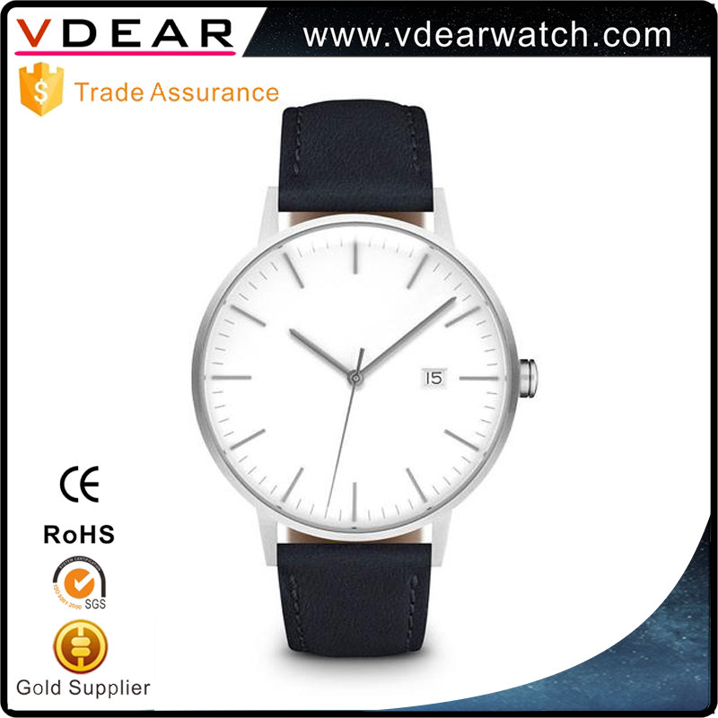 Good quality quartz stainless steel back wrist watches men minimalistic fashion watch 2017