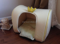 crown design pet cheap doghouse / pet bed tent / dog house