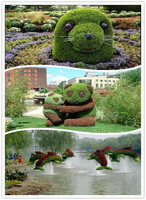 2016 New design artificial green sculpture for garden manufacturer