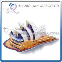 Mini Qute 3D Wooden Puzzle Sydney Opera House world architecture famous building Adult kids model educational toy gift NO.JPD558
