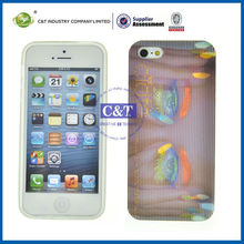 C&T TPU wholesale custom 3d cell phone case for iphone 5s