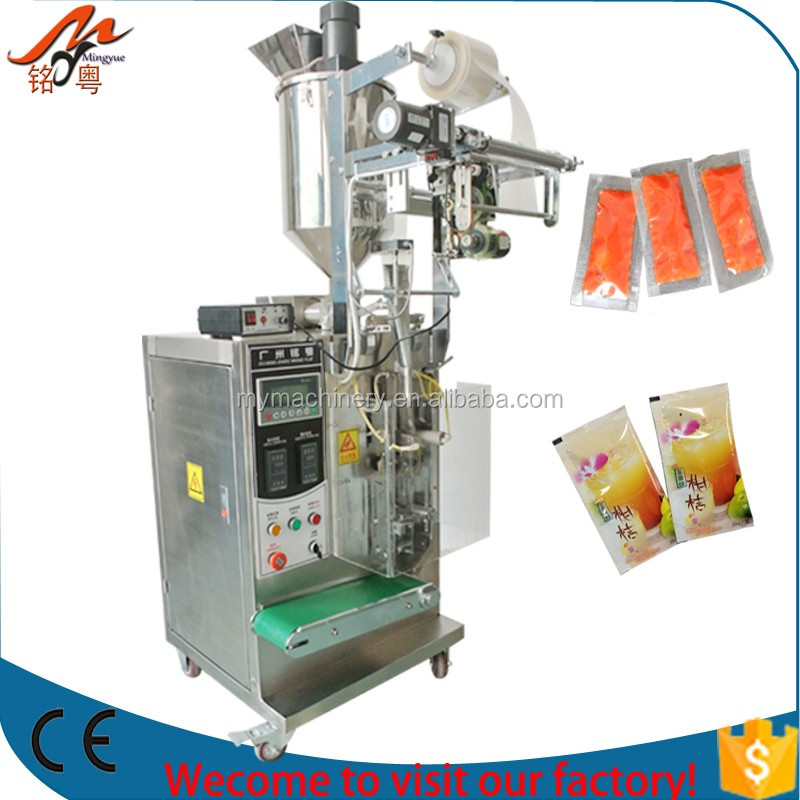 Full automatic ketchup/ oil/ paste/ butter packing machine factory supplier