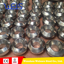 steel socket weld and npt thread pipe fitting Stainless Steel Socket Weld Forged OUTLET 6''X2'' SCH80S F51 PIPE FITTING