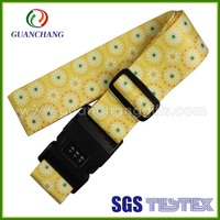 cheap Dye Sublimation Printing Luggage strap Belt With Digital Lock