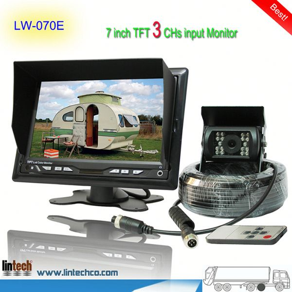 China supplier - 7 inch waterproof night vision parking rearview system sealant (LW-070E)