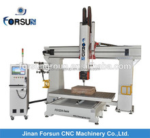 China CE supply wood 5 axis cnc vertical machining center/5 axis cnc woodworking machine