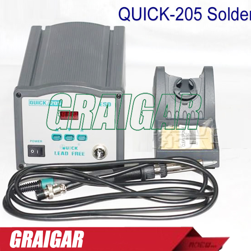 New Genuine original crack 205 Soldering Station QUICK 205 large power intelligent lead-free welding station 150W