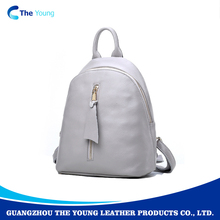 Wholesale fashion real leather woman backpack bag