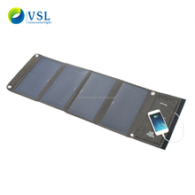 factory direct new design 290*165*30mm 28W 5V foldable phone solar charger bag with sunpower solar cell solar charger
