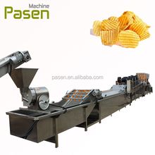 Fully automatic potato chips production line / potato chips cleaning peeling and cutting machine