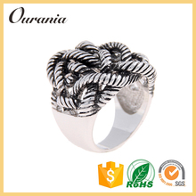 Wholesale Twist Stacking Ladies Fashion Rings Sterling Silver