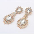 New arrival luxury fashion Crystal earrings designs lady fashion party water drop beautiful earring