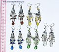 Alpaca Murano Glass Color Earrings Wholesale Jewelry from Peru