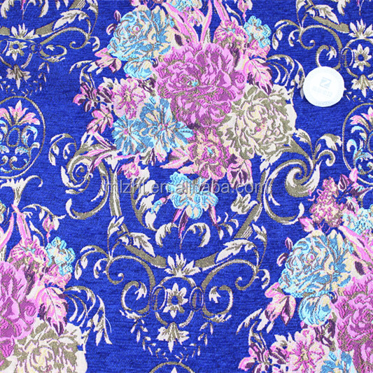 European royal flower jacquard fabric for curtains fashion, dresses, skirts, home textiles, curtains,jacquard chenille fabric