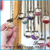 Made in China small MOQ hollow glass ball for making jewelry glass ball pendant necklace