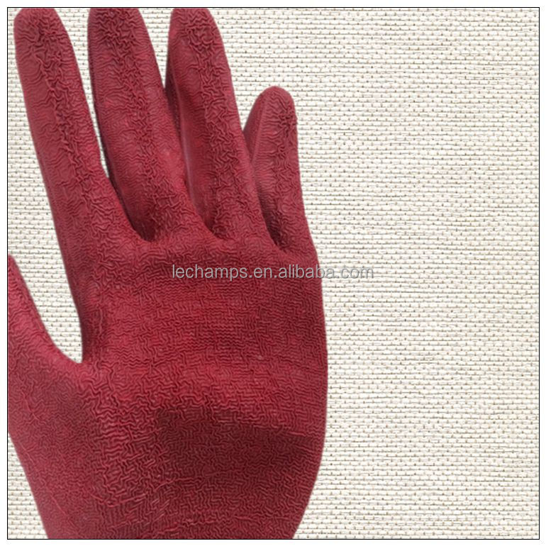 2016 New Style Rubber Latex Glove Hand Glove Cheap Price Anti Oil Working Gloves