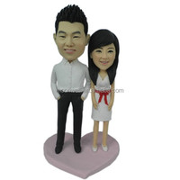 Custom bobblehead, wedding cake topper handmade, creative wedding/birthday gift- Our date, personalized anniversary gift