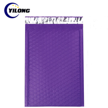 custom poly mailer plastic mailing bags Purple padded envelope