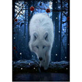 5D mosaic diamond painting white wolf handicraft diamond embroidery painting diy round crystal diamond painting wall decor