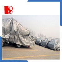 folding PE plastic car cover, dust proof car bag, snow proof car cover